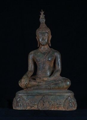 19th Century SE Asia Sukhothai Thai Enlightenment Buddha Statue - 36cm/14""