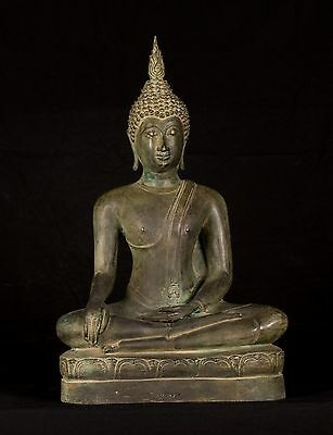 19th Century SE Asia Sukhothai Thai Enlightenment Buddha Statue - 49cm/20""