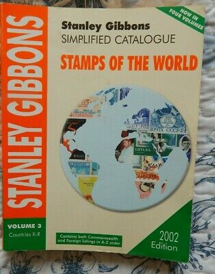 STANLEY GIBBONS SIMPLIFIED CATALOGUE STAMPS OF THE WORLD  countries K-R 2002 ED
