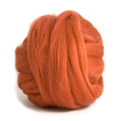 50g DYED MERINO WOOL TOP TERRACOTTA RED DREADS 64's SPINNING FELTING ROVING