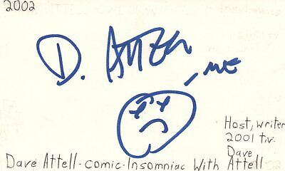 Movies Dave Attell Comedian Tv Host Movie Autographed Signed Index Card Jsa Coa Online Discount