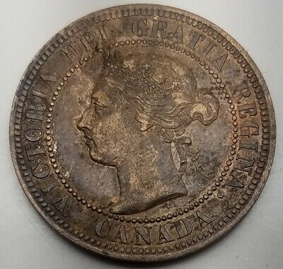 1893 Canada 1C-Km 7-Extremely Fine+ Free Usa Shipping-One Cent