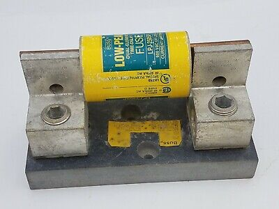 Bussmann J60400-1CR 400A 600V Fuse Block Holder  w/ Fuse LPJ-250SP Used