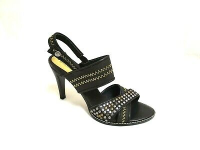 175e841396 Women's DIESEL High Heel Studded Strap Shoes size 8.5 Black/Lime 810 m
