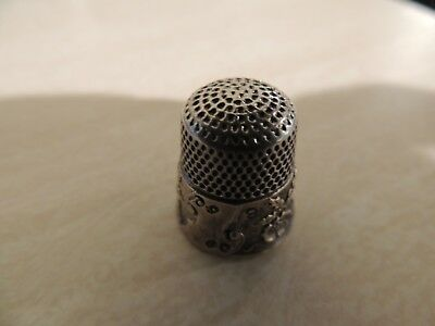 Sterling Antique Thimble found in family estate