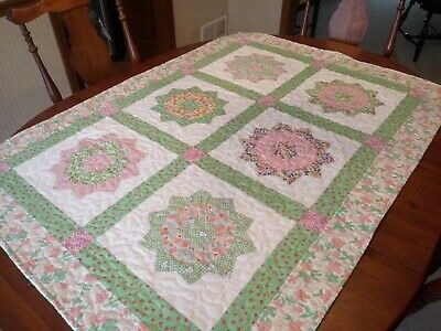 "Country/Farmhouse/Baby Girl Crib Quilt/ 36"" x 50"""