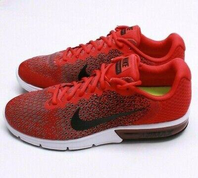 2ae83e75930 MEN S NIKE AIR Max Sequent 2 852461 600 University Red black-Black ...