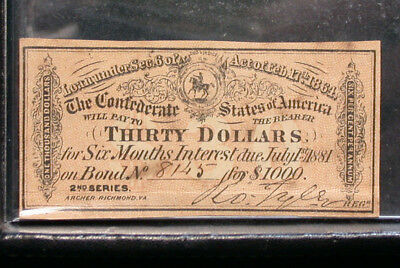 1881 $30 Confederate Bond Coupon!  Another Great Chelsea Rare Coins Deal!