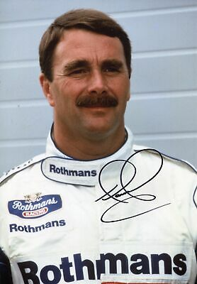Nigel Mansell autograph, British FORMULA ONE driver, signed photo