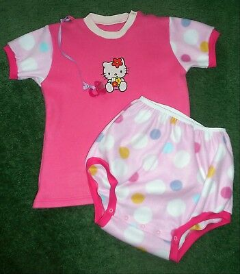 "Adult baby EMBROIDERED FLEECE DIAPER SET HELLO KITTY 50"" CHEST"