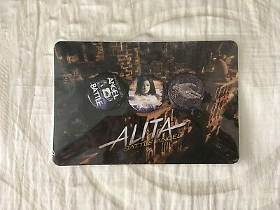 SDCC 2018 ALITA BATTLE ANGEL Set of 3 Button Pins, Lootcrate Comic-con Exclusive