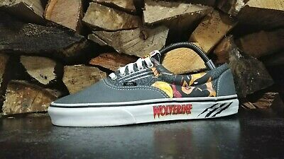 b95e0d4d1fd Mens Vans Wolverine X Men Casual Shoes Sz 10 M Used Sneakers Comic Marvel