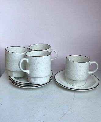 Poole Pottery Parkstone 4 x Cups and Saucers