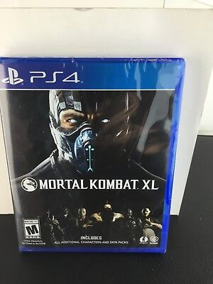 PS4 2016 Edition Sony Playstation Mortal Kombat XL Video Game Complete