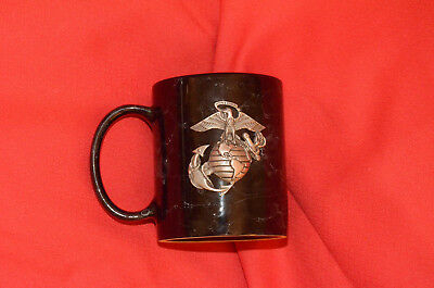 U.s. Marine Corps Raised Pewter  Logo Coffee Cup