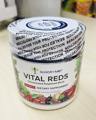 Gundry MD Vital Reds Concentrated Polyphenol Blend Red Berry 4oz SEALED