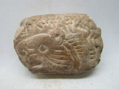Rare Ancient Near Eastern Clay Tablet With Early Form Of Writing & Animal Face
