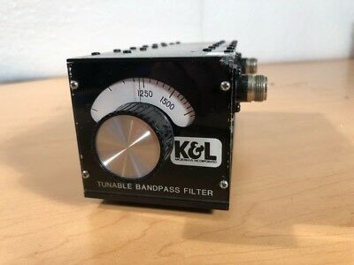 K&L Microwave Tunable Bandpass Filter 5BT-1000/2000-5N
