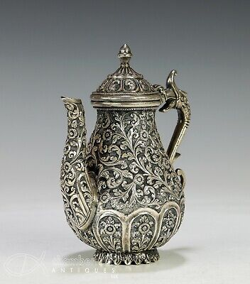 Very Nice Antique Asian India Silver Teapot