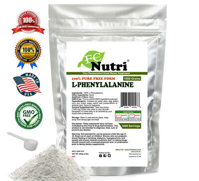 L-Phenylalanine pure powder 2.2LB (1000g) healthy mental energy mood weight