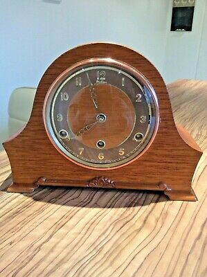 Antique Bentima Perivale Art Deco Mantel Clock With Westminster Chimes.working