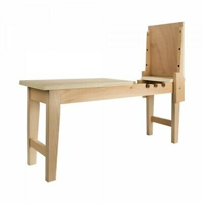 Belgian Art Drawing Horse Beechwood Bench Storage