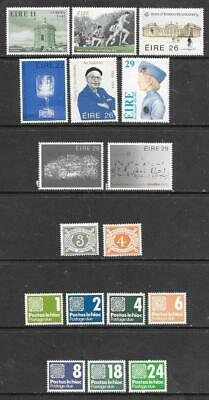 IRELAND - 17 x MNH Stamps, including Postage Dues.
