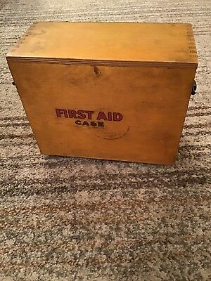 Vintage Wooden First Aid Cabinet - 1960's.