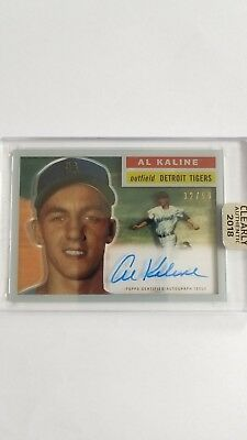 2018 Topps Clearly Authentic Al Kaline 1955 Topps Throwback Auto 32/99
