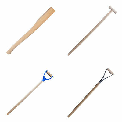 Hard Wood Shovel Fork Spade Shaft Handle Replacement Spare Tapered T or D
