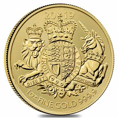 2019 Great Britain 1 oz Gold Royal Arms Coin .9999 Fine BU