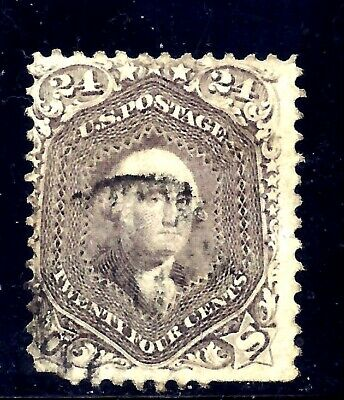 US Stamps - #78a - USED - 24 cent Washington Issue - CV  $3400