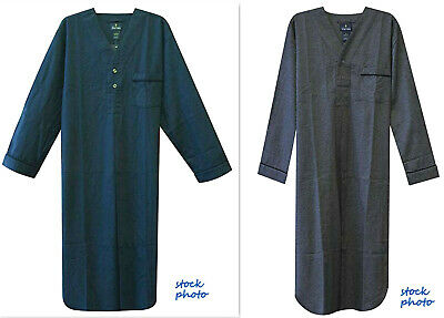 Stafford Mens Flannel Nightshirt NWT 2XL OR 3XL Gray or Navy Blue NWT FREE SHIP!