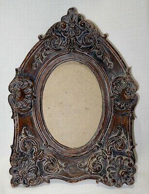 Vintage Gesso Ornate Cathedral Shaped Picture Frame