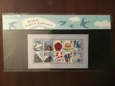 "Royal Mail Presentation Pack ""Smilers Business & Consumer"" Stamps Mainly Superb"