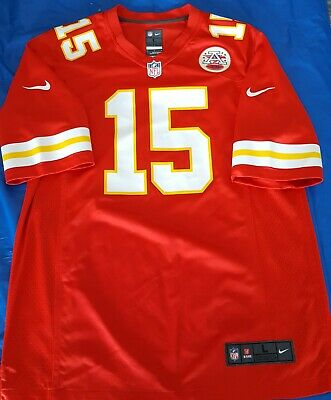 5b591e9bf Patrick Mahomes Kansas City Chiefs Red Nike Game Jersey Men s Large 48 NWT