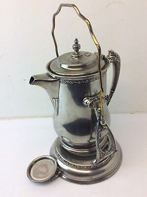 Vintage Silverplate Victor Silver Co Quadruple Plate 2069 1211 Swinging Pitcher