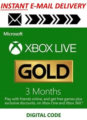 Microsoft Xbox Live 3 (+1) Month Gold GLOBAL Code - 2/47 Instant Delivery