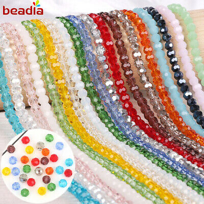 70 x FACETED RONDELLE CRYSTAL GLASS BEADS 8x6mm CHOOSE YOUR COLOUR WHOLESALE LOT