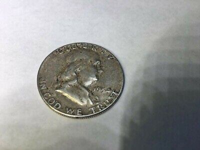 1954-P Franklin Half Dollar 90% SILVER  NICE CIRCULATED COIN  FREE SHIPPING !