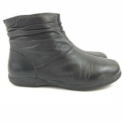 490d11c97725 SOFTWALK WOMENS BLACK Leather Ankle Booties Hanover 8.5 Wide ...