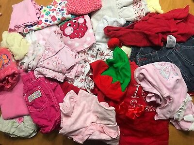 Bulk Baby Girls clothes, shoes & accessories - Size 000 - Summer (24 items)