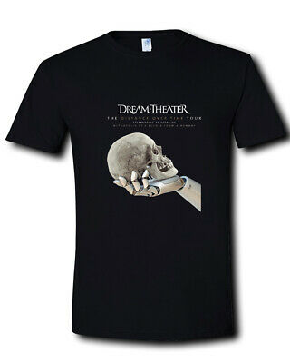Dream Theater The Distance Over Time Tour 2019 Black T-Shirt Size S M L XL - 3XL