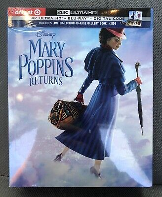 Mary Poppins Returns (4K UHD & Blu-ray discs, 2019) Target Exclusive *NO CODE*