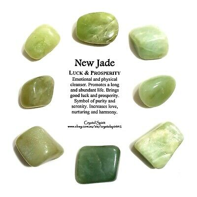 *1* NEW JADE Natural Tumbled Stone Approx 20mm-30mm *TRUSTED SELLER*