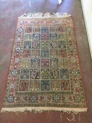 F7006 Vintage Hand Knotted Wool Rug Persian 107x173 Boho Carpet