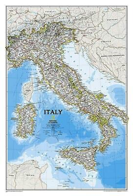 Italy NGS 590 x 870mm Laminated Wall Map
