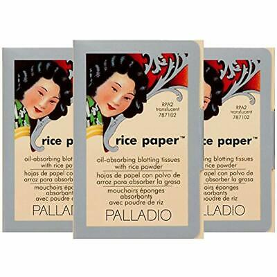 3 Palladio Rice Paper Tissue Face Blotting Translucent Oil Absorbing 40 Sheets