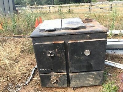 Antique Cast Iron Oven With Water Jacket
