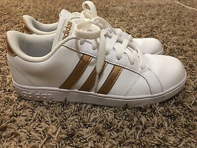 the latest f6e9e 9424a ADIDAS SUPERSTAR WHITE And Rose Gold Shoes Women's Size 7/Kids Size 5